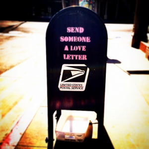 Send us a love letter.